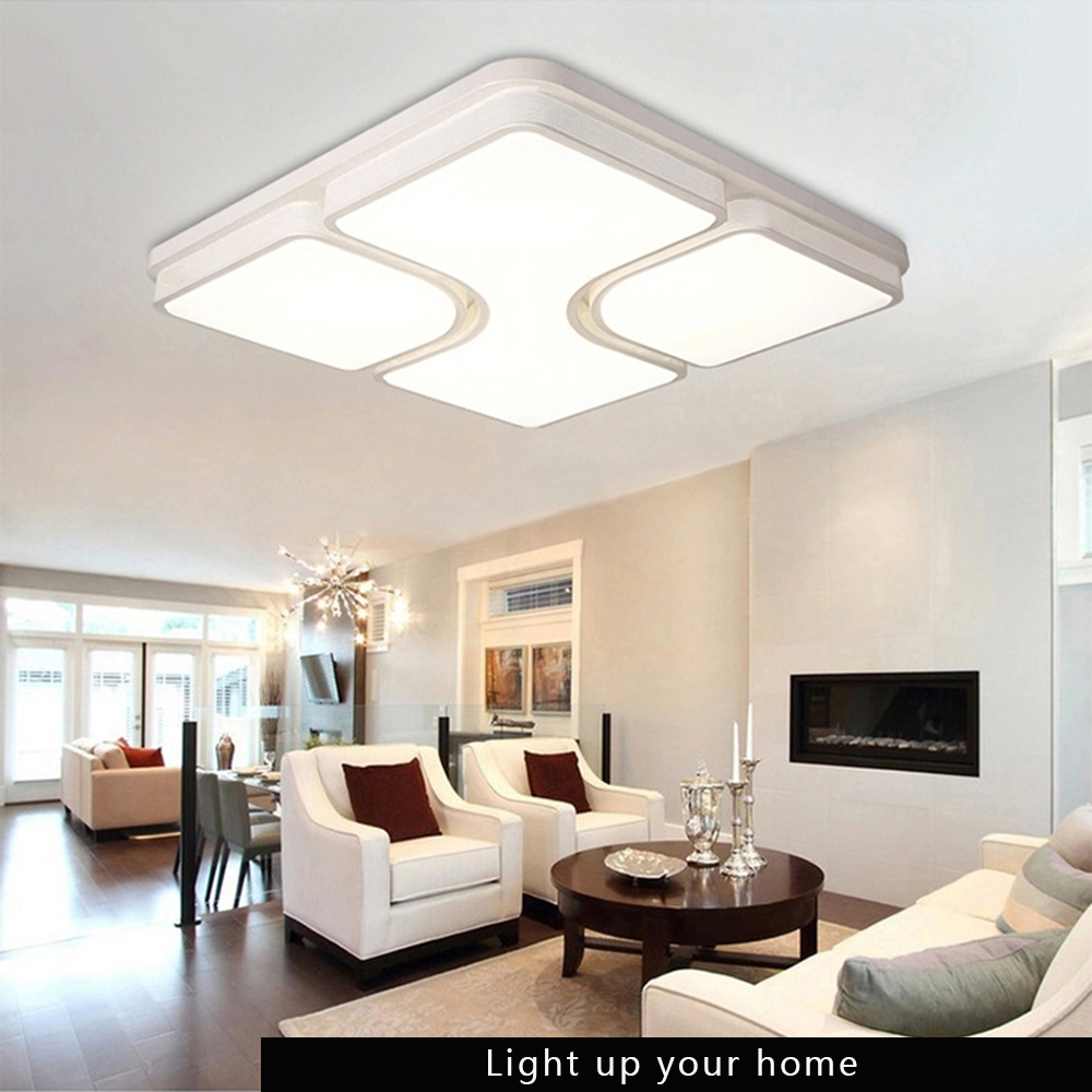 Goxi modern led acrylic flush mount chandelier ceiling for B q living room lights
