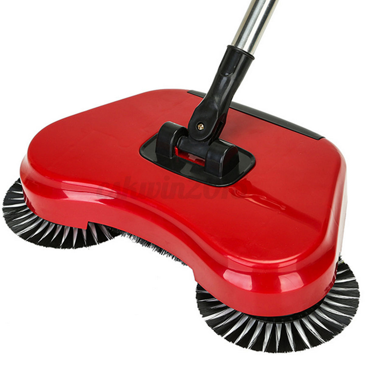 No Electricity Noise Spin Broom Hand Push Sweeper Mop Home