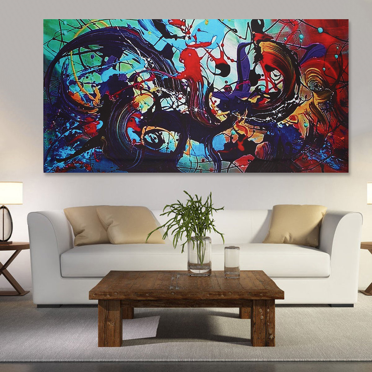 Abstract Indian Woman Canvas Oil Painting Print Picture