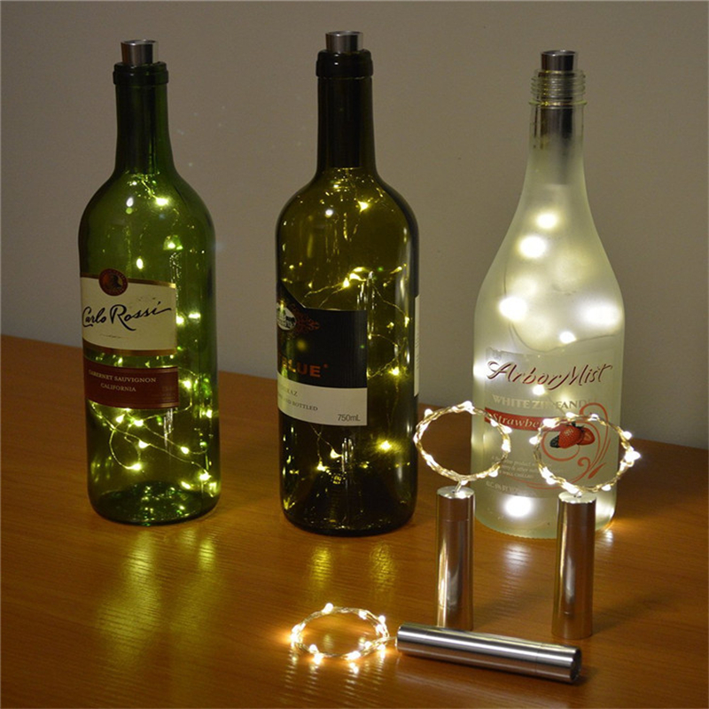 Image Is Loading Cork Shaped LED Night Light Starry String Light