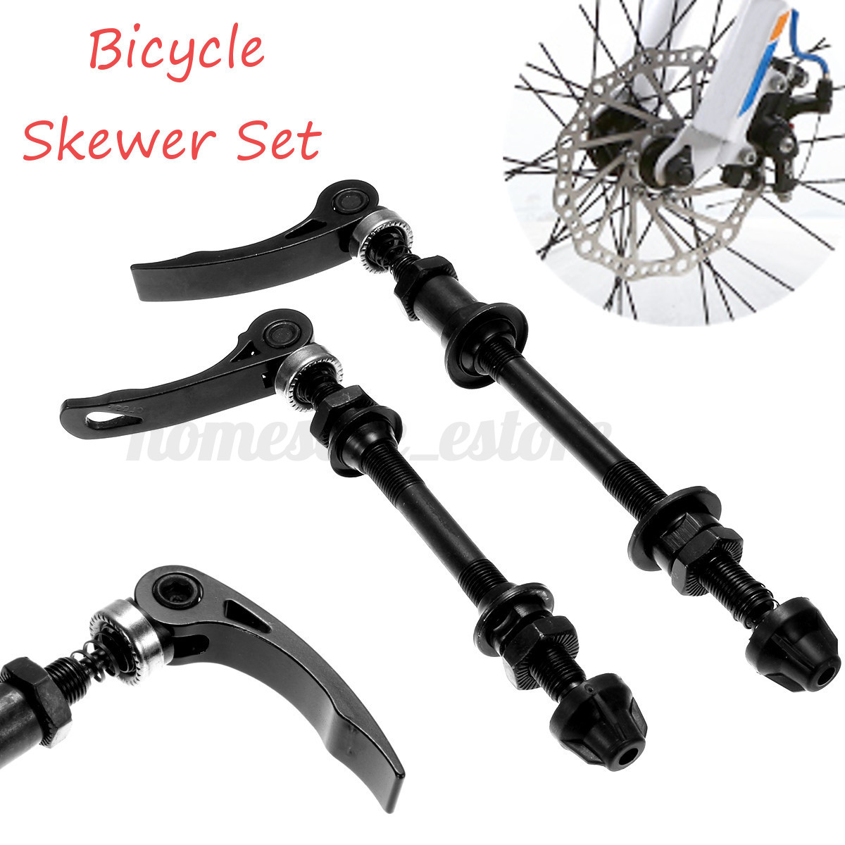 Bicycle Hub Skewers Quick Release Front Rear Hollow Shaft for MTB Road Bicycle