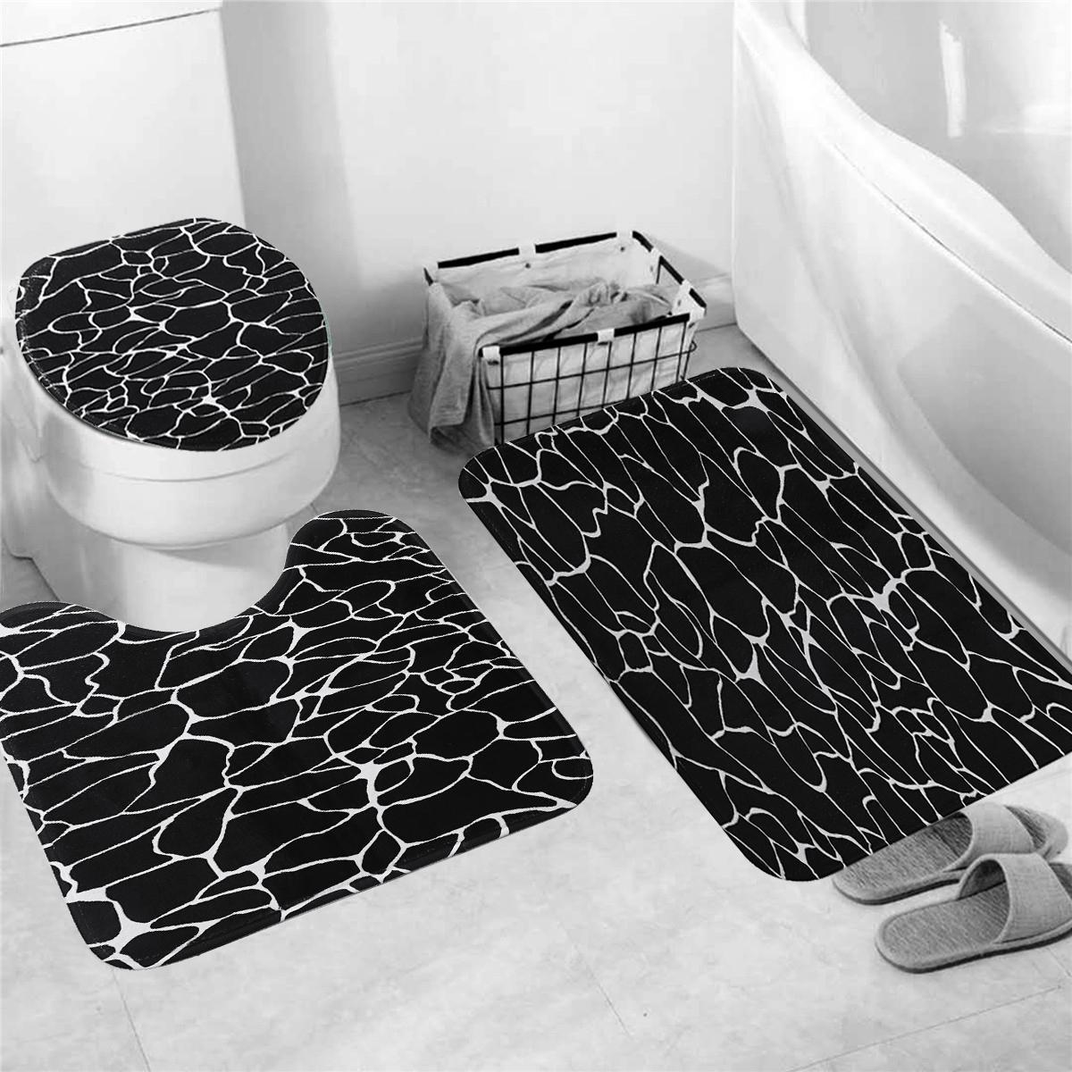 Bathroom Accessories Marble Shower Curtain Waterproof Bathroom Bath Mat Set Rug Toilet Lid Covers A Home Garden Yuki Be