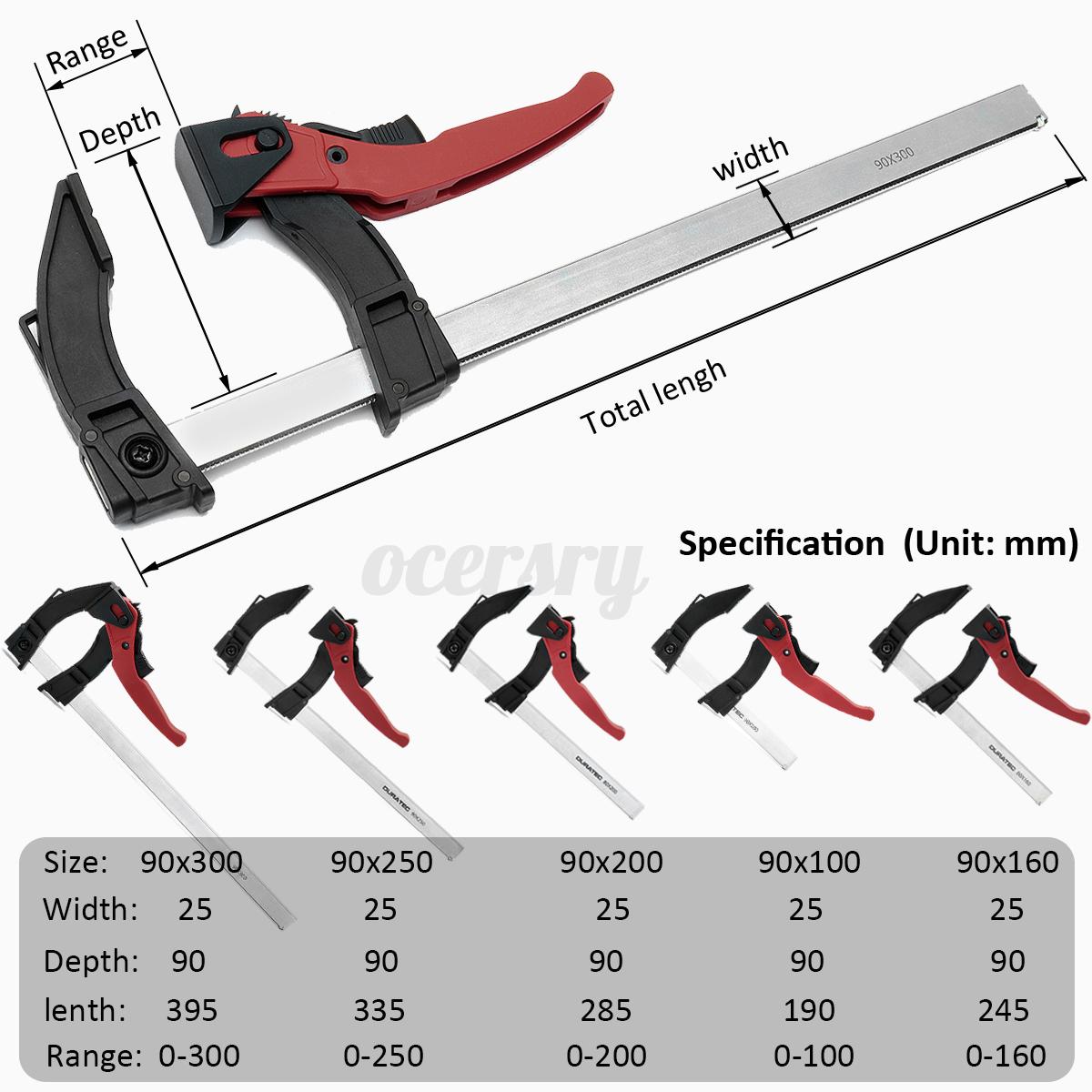 120-Griff-F-Klemme-Holzbearbeitung-Schraubzwinge-Handwerkzeug-100-300mm-Klemme Indexbild 11