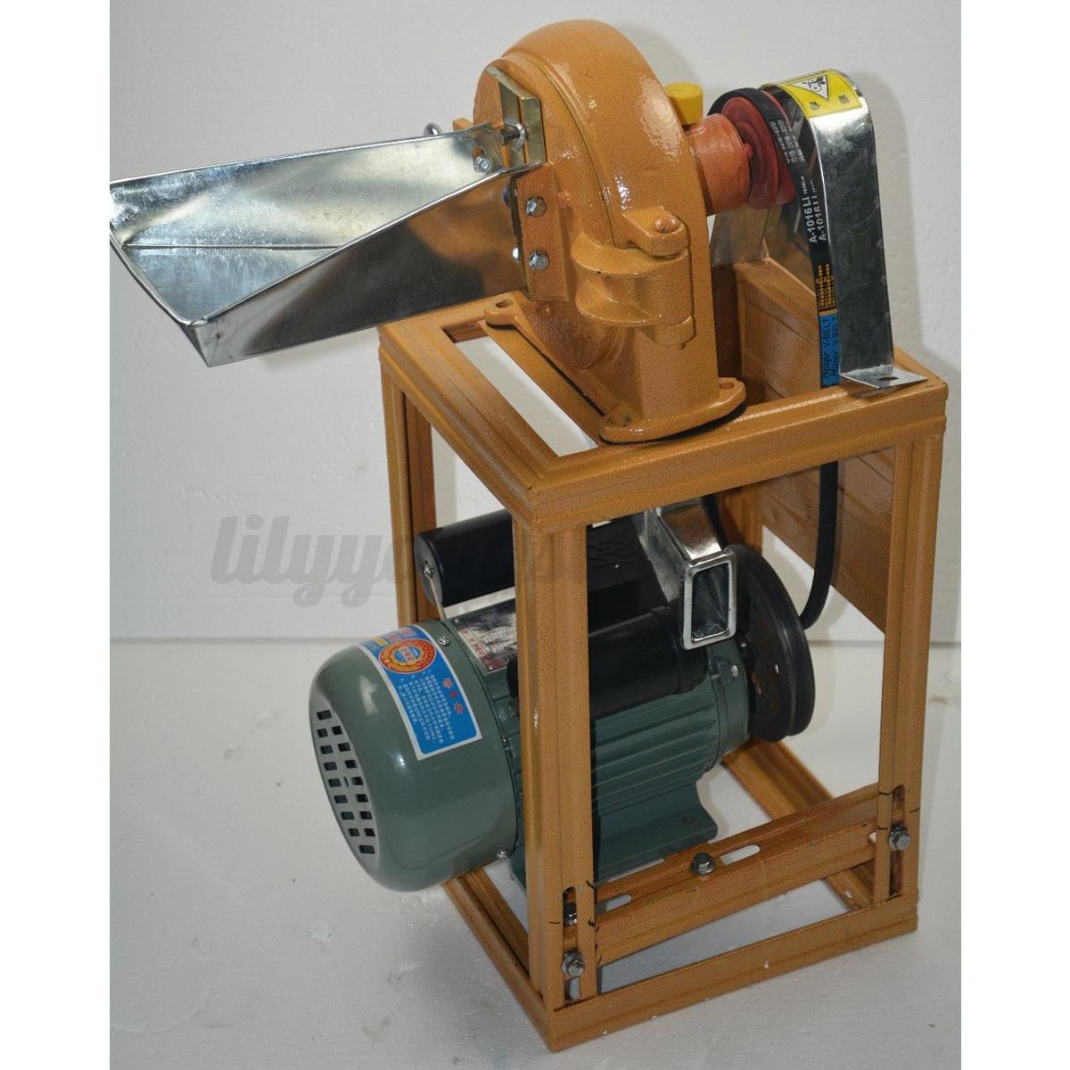 grain grinding machine commercial corn powder crusher grinder mill wheat flour ebay. Black Bedroom Furniture Sets. Home Design Ideas