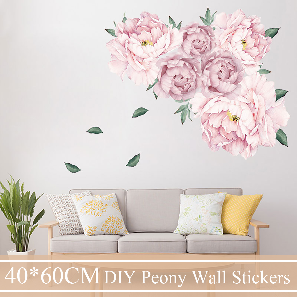 Details About Peony Flower Wall Sticker Mural Art Vinyl Decal Home Bedroom Decor Diy Beautiful