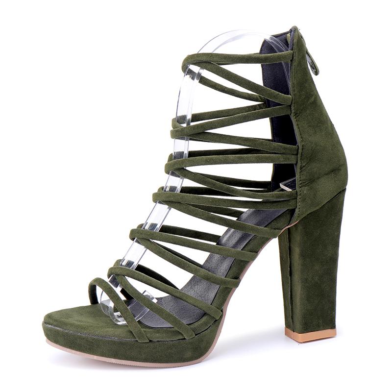 AU-Women-Strappy-High-Block-Heels-Sandals-Bohemian-Gladiator-Ankle-Pumps-Shoes