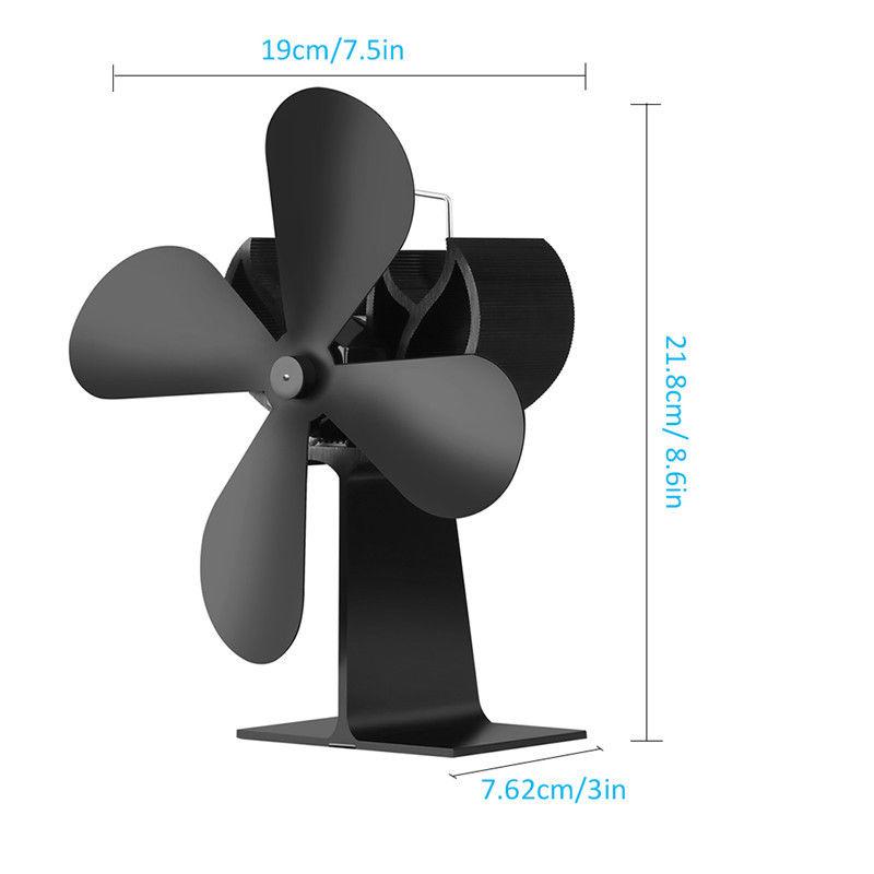 ventilator ofenventilator stromloser ofen 4 blades gebl se f r holzofen fen ebay. Black Bedroom Furniture Sets. Home Design Ideas