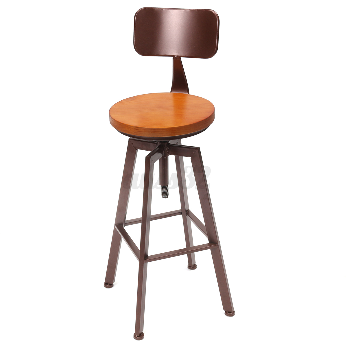2 Types Industrial Rustic Retro Metal Bar Stool Breakfast Kitchen ...