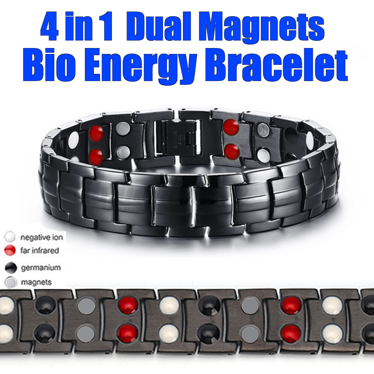 Magnetic Therapy Devices Wristbands Bio Magnetic Negative Ion Health Energy Anti-fatigue Weight Therapy Bracelets