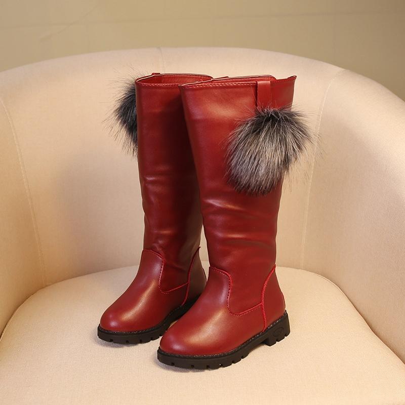 Baby-Girls-Warm-Winter-Snow-Fur-Waterproof-Boots-Children-Kids-Shoes-High-Boots