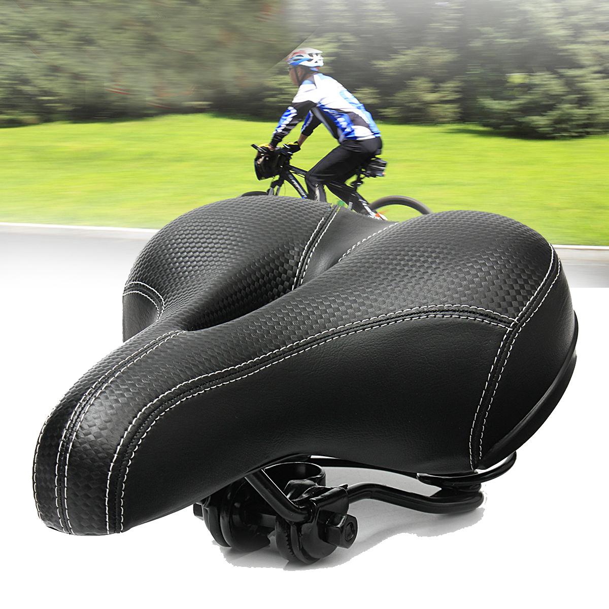 Wide Big Bum Bicycle Saddle Seat Soft Extra Comfort Cushion Pad Gel Cycling Bike