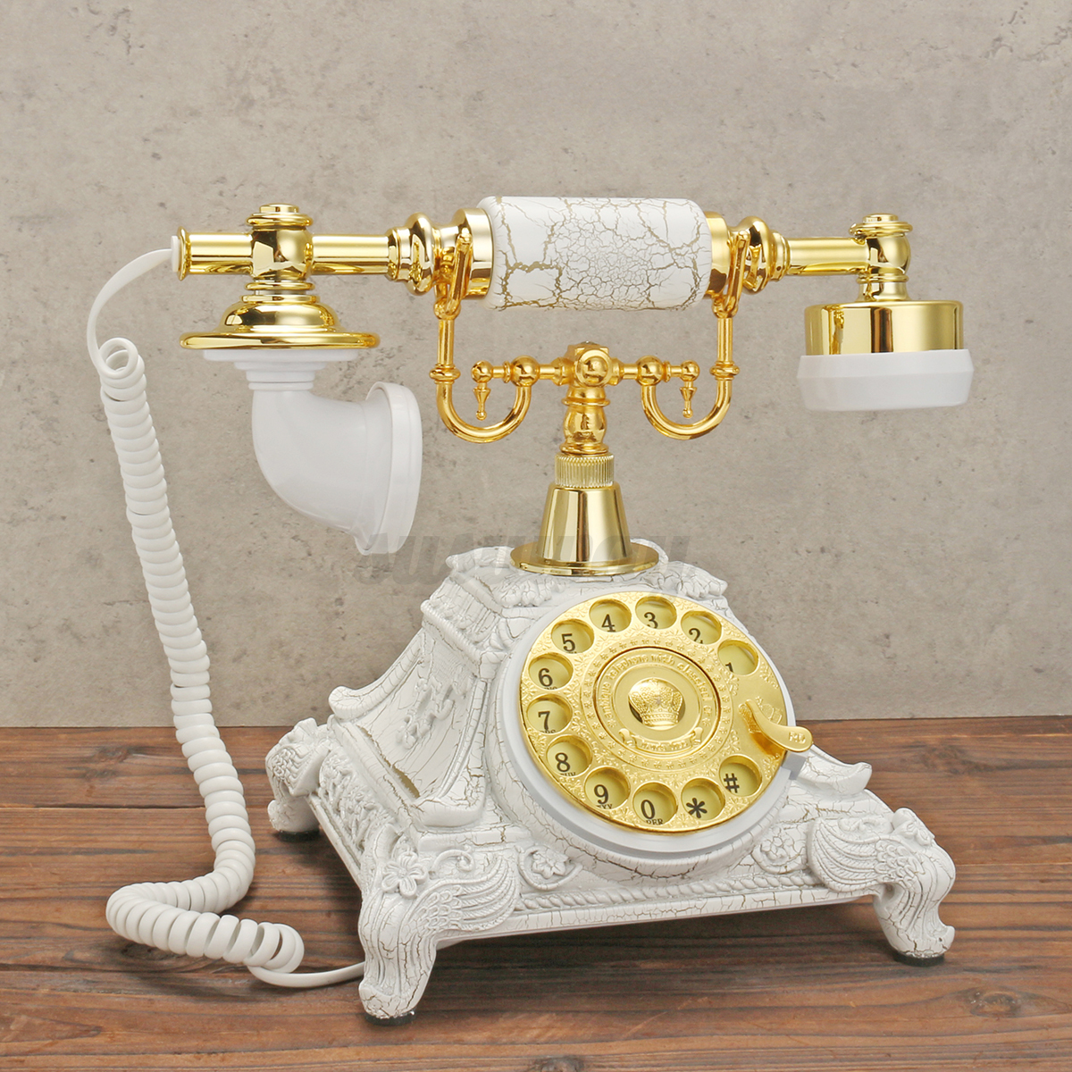 vintage rotary t l phone fixe cadran rotatif main libre. Black Bedroom Furniture Sets. Home Design Ideas