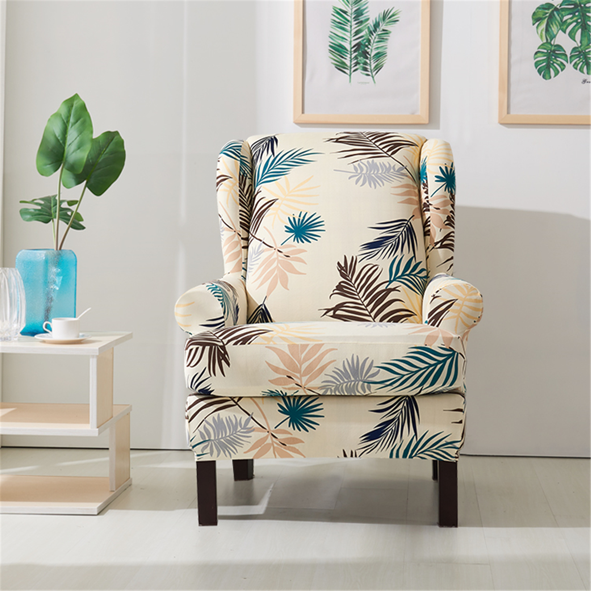 Fabulous Details About New Printed Armchair Wingback Slipcover Wing Chair Cover Stretch Home Protector Gmtry Best Dining Table And Chair Ideas Images Gmtryco
