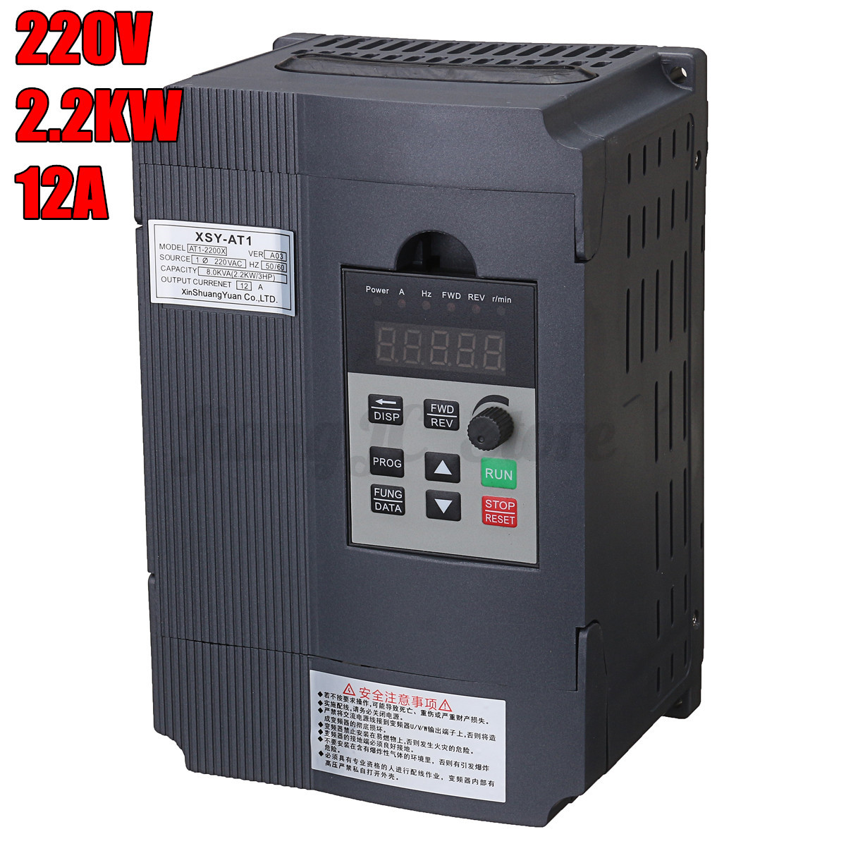 Variable frequency drive inverter 1 5kw 2 2kw 380v 220v 3hp 220v single phase motor