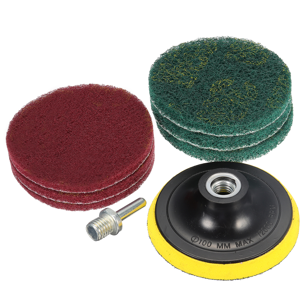 Tile Grout Power Scrubber Cleaning Scouring Pad Drill
