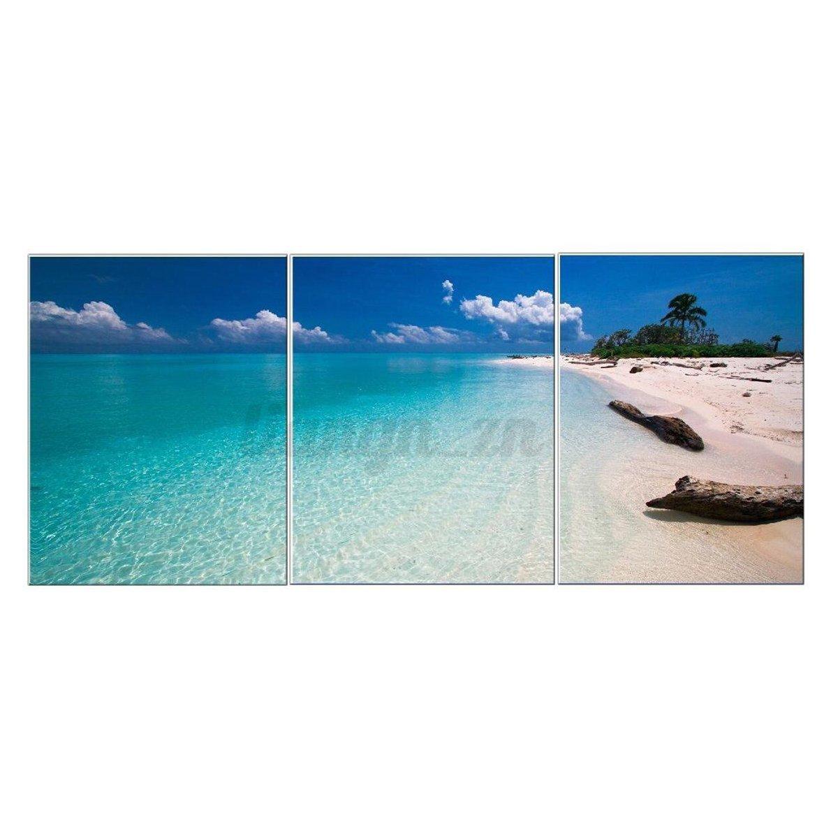 3pcs-Peinture-a-l-039-Huile-Tableau-paysage-bord-de-mer-moderne-Toile-Maison-Murale