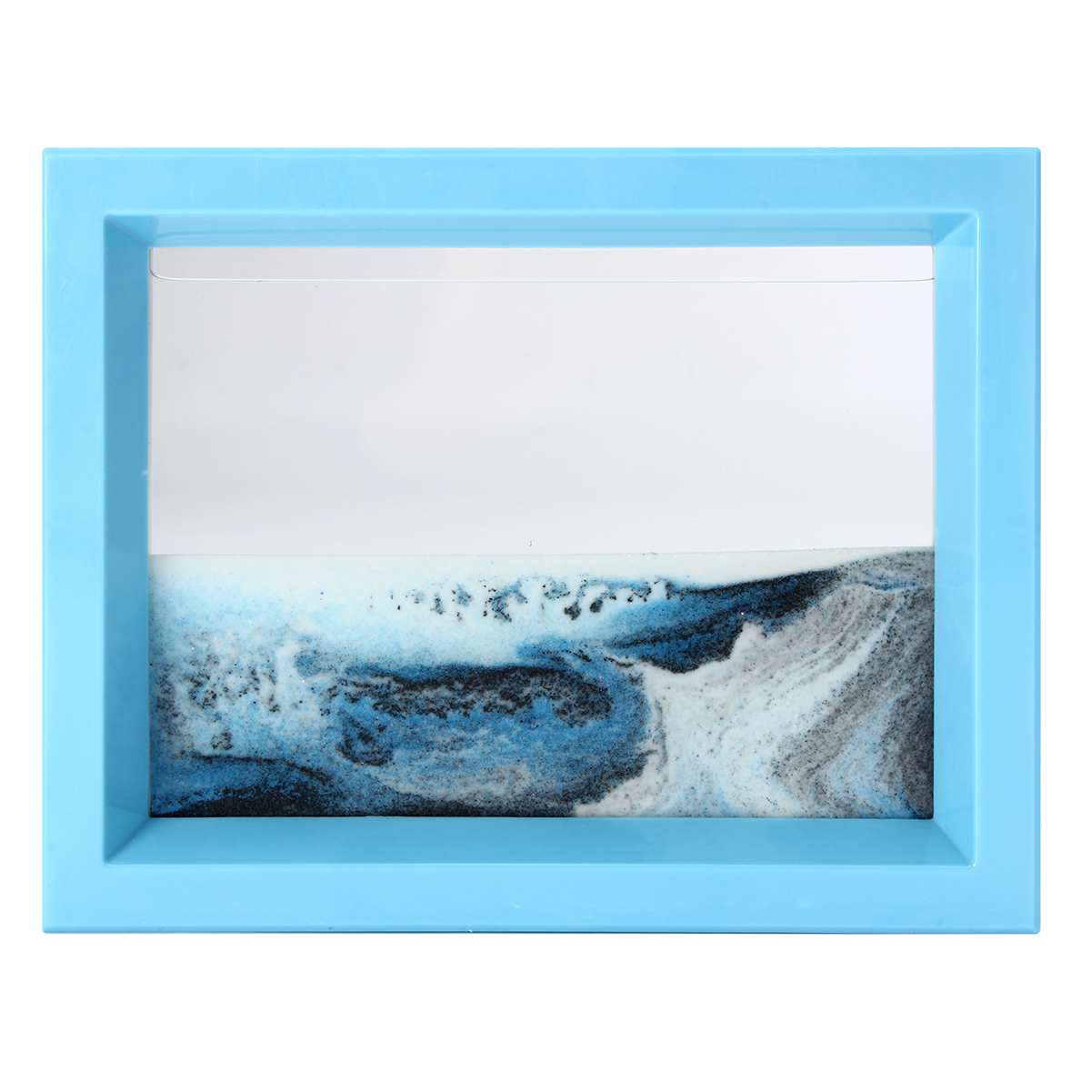 Abs moving liquid sand glass art picture photo frame home for Home interiors and gifts framed art