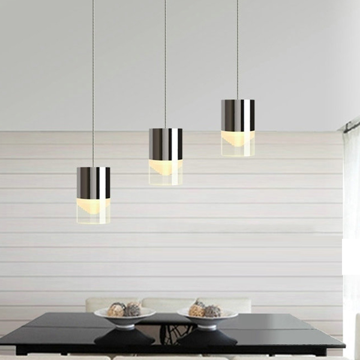 Modern Acrylic LED Pendant Lamp Chandelier Bar Living Room Ceiling ...