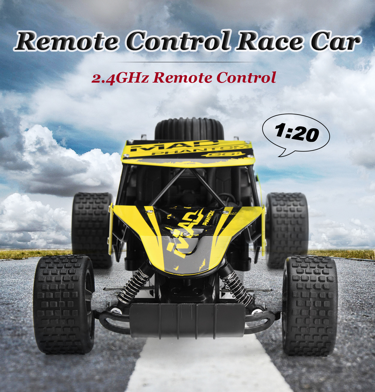 1 20 2 4g Remote Control Off-road Monster Truck High Speed RTR RC Car Toy  Gift