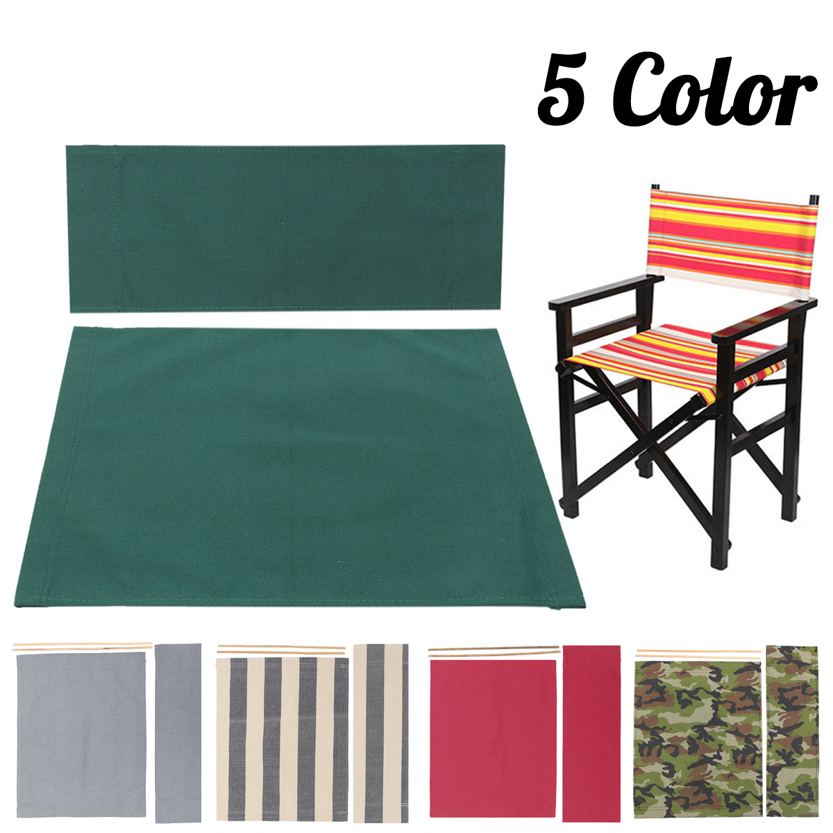 Brilliant Details About Casual Directors Chairs Cover Replacement Canvas Seat Stool Covers Kit Outdoor Bralicious Painted Fabric Chair Ideas Braliciousco