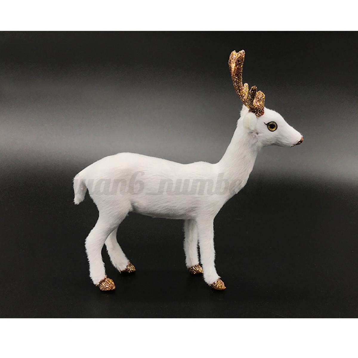 Natale-Cervo-Peluche-Simulazione-Albero-di-Festa-Ornamento-Regalo-Festa-Decor miniatura 10