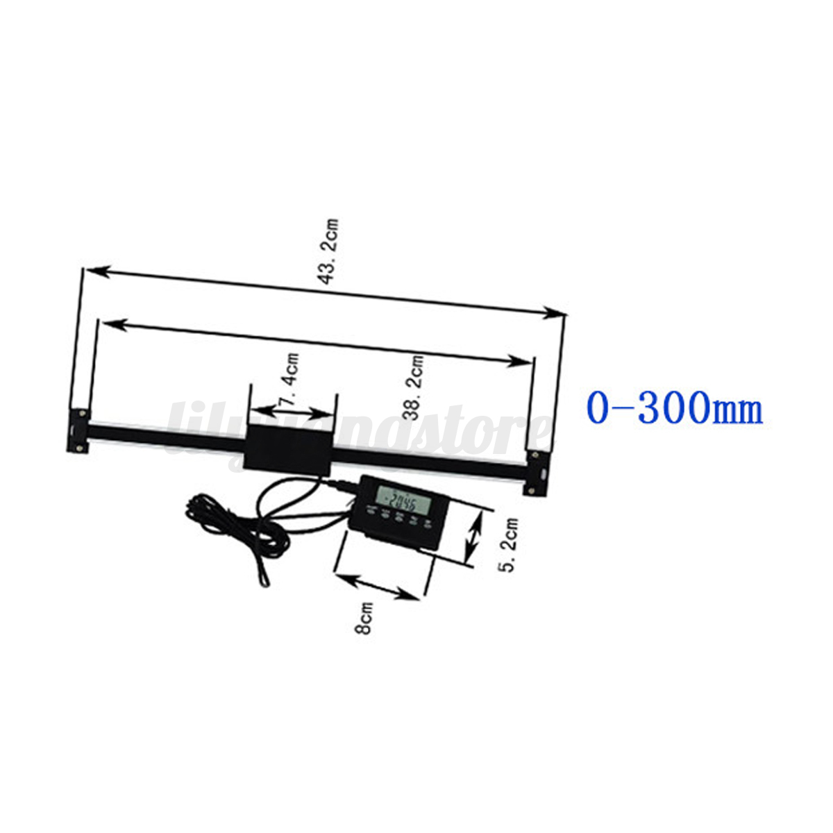 6'' 8'' 12'' Digital Readout DRO Remote LCD for Milling ...