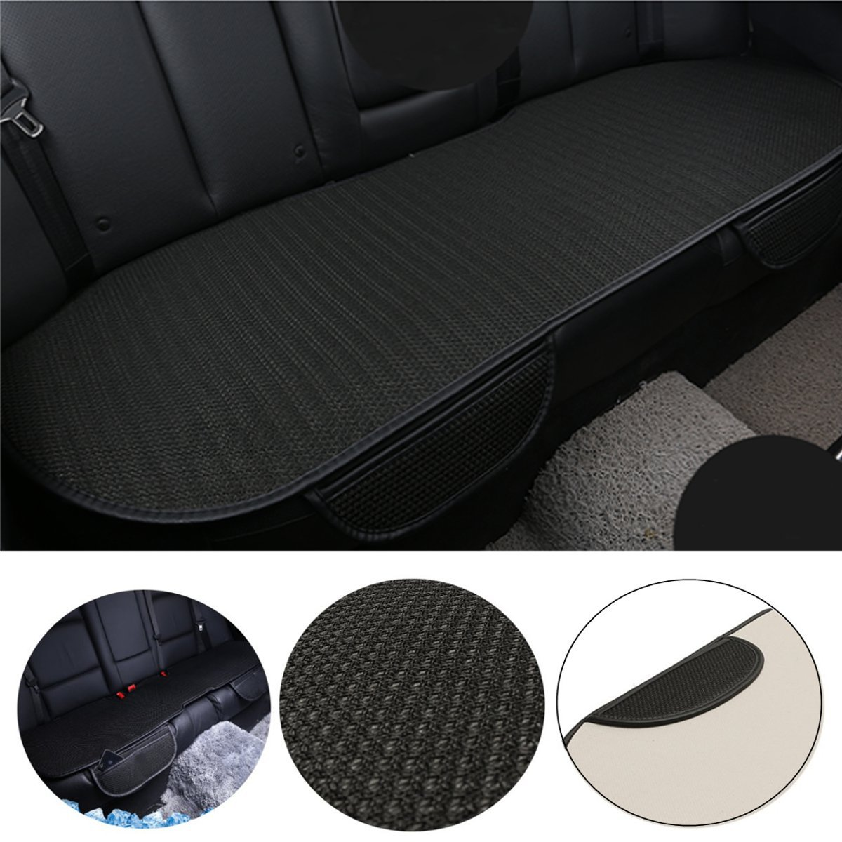 universal rear back car seat cushion protector cover mat pad ice silk non slip ebay. Black Bedroom Furniture Sets. Home Design Ideas
