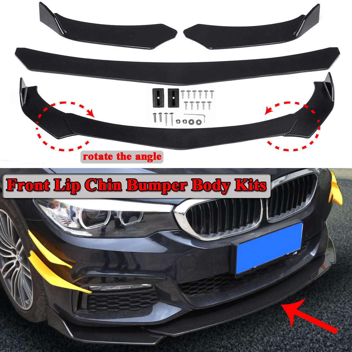 Decal sticker Stripe kit compatible with BMW E36 M3 Coupe Body Wing Splitter Lip