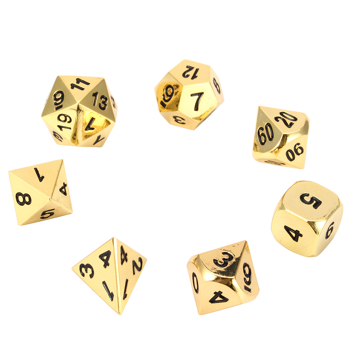 Polyedre-metal-Dice-For-RPG-MTG-Poker-Card-jeux-7PCS-With-4-6-8-10-12-20D