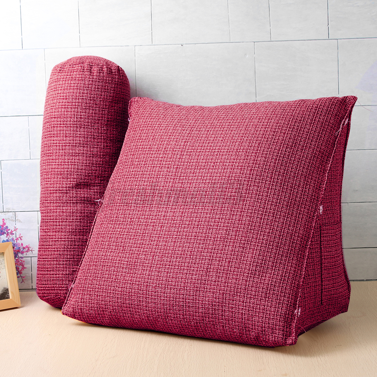 Big adjustable back wedge cushion pillow sofa bed office for Chair neck support attachment uk