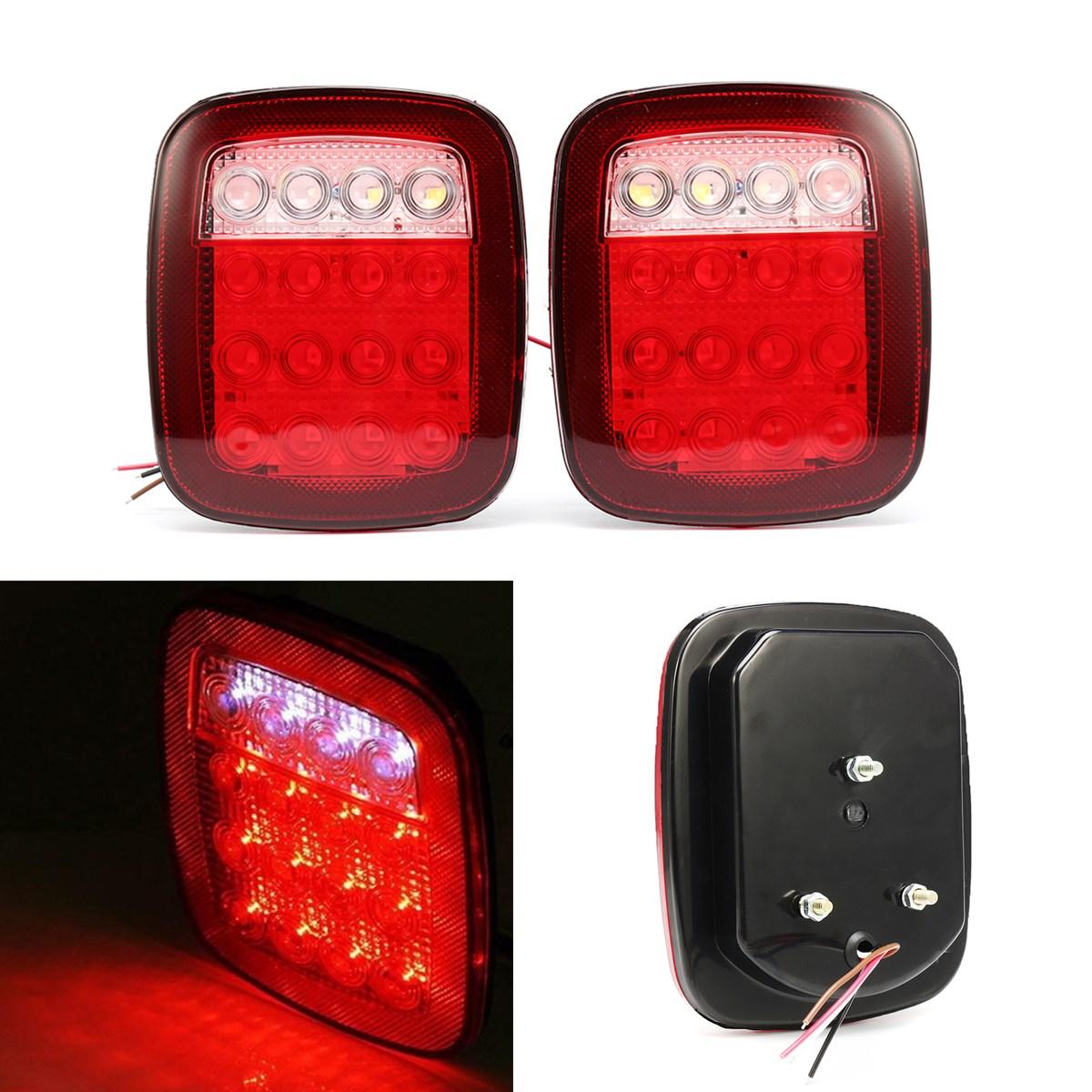 12V 16 LED Truck Trailer for Jeep JK TJ CJ YJ Stop Turn Signal Tail Light USA