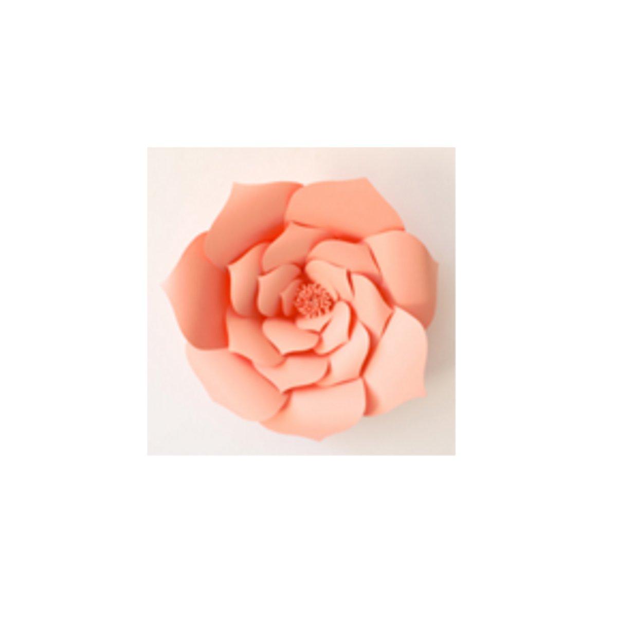 2pcs Giant Paper Rose Flower 20cm Diy Backdrop Wall Wedding Party