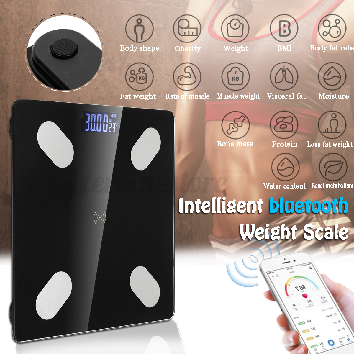 LED-bluetooth-Wireless-Digital-Bathroom-Weight-Scale-Body-Fat-Measures-Weight