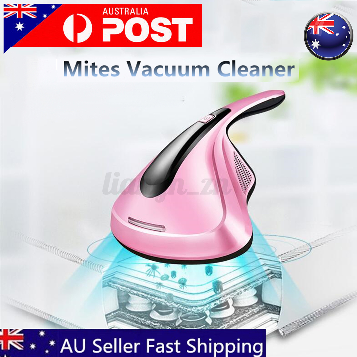 300W Mites Vacuum Cleaner UV Sterilization Handheld Home Bed Mattress Gold Red