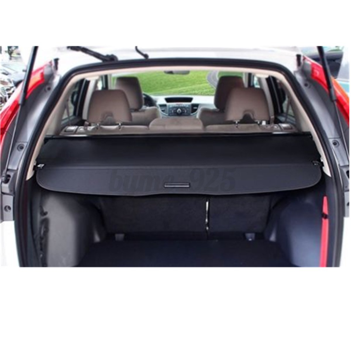 us black canvas cargo cover security trunk shield fit for. Black Bedroom Furniture Sets. Home Design Ideas