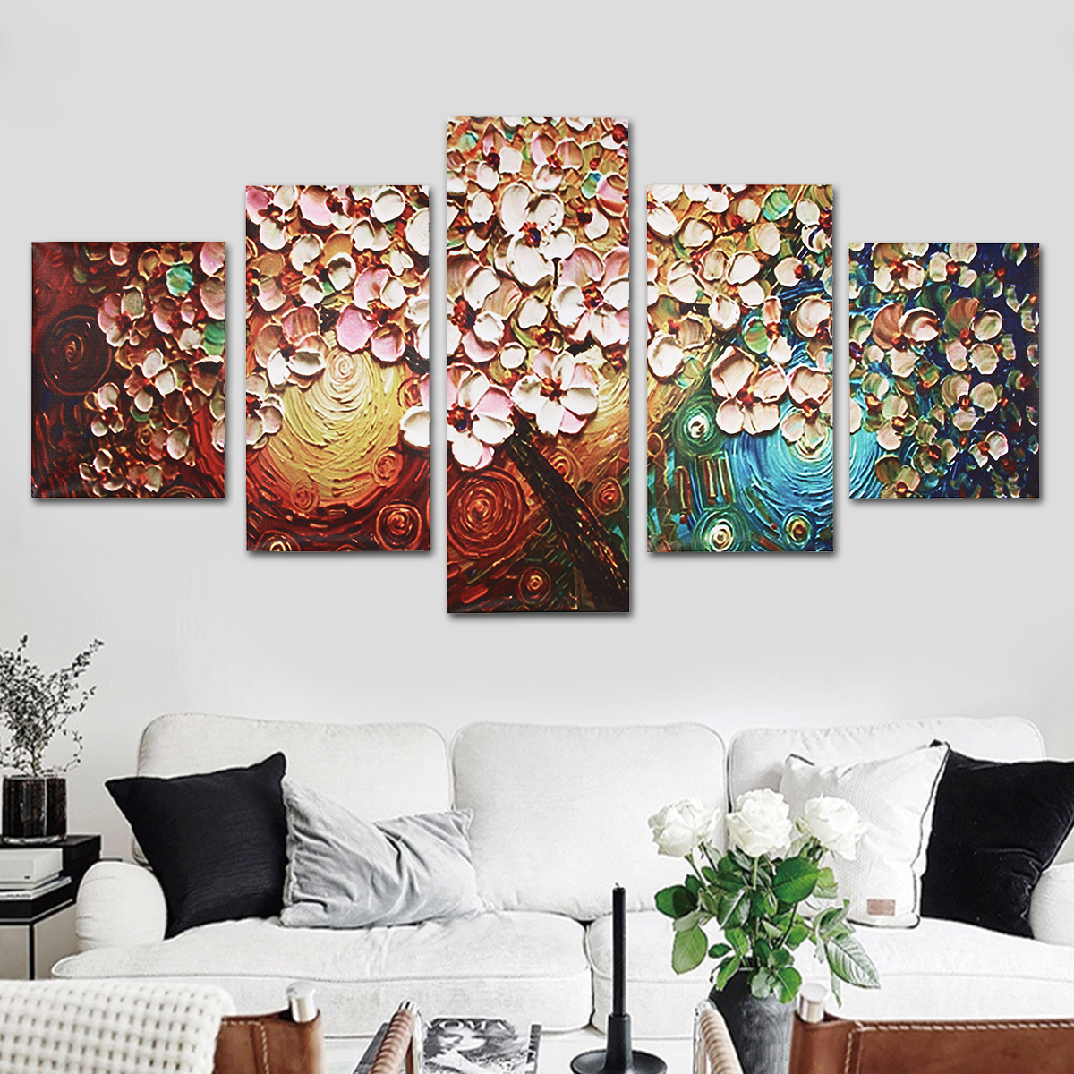 5PCS LARGE CANVAS WALL MODERN ABSTRACT PRINT ART PICTURE ANIMAL PATTERN