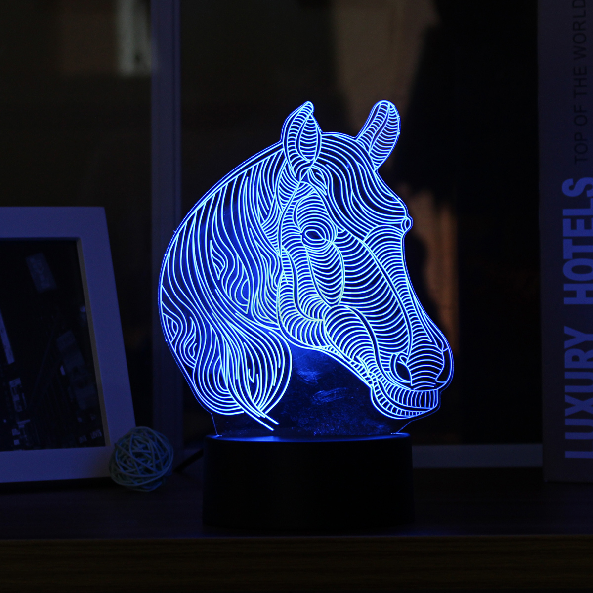 3d Led Night Light Color Change Panel Remote Control
