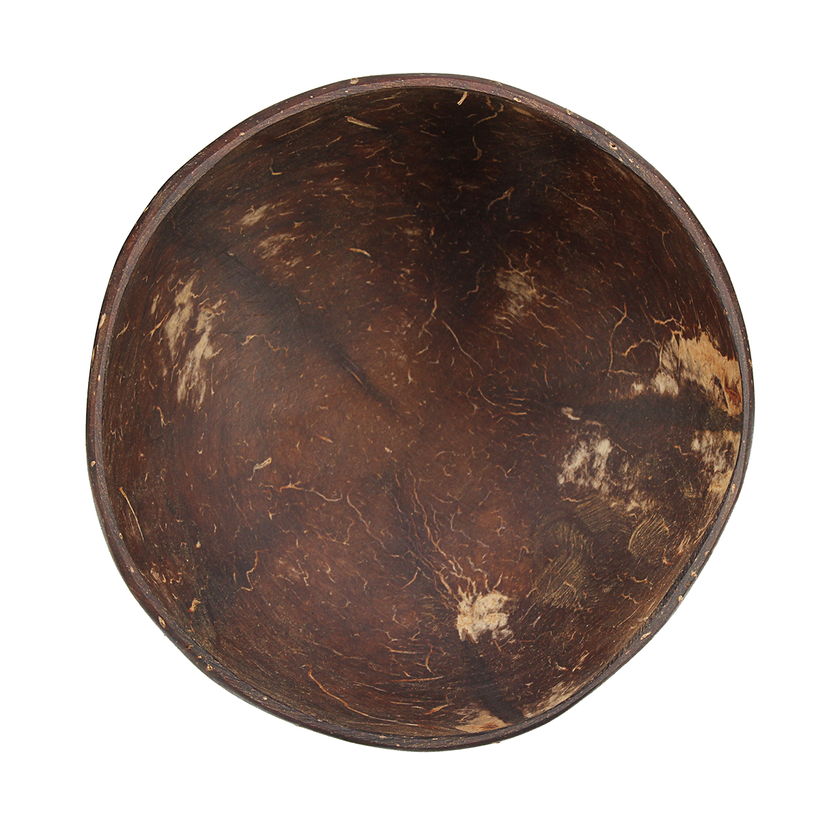 Baby Bamboo Natural Coconut Shell Bowl Spoon Scoop Handmade Vintage Food Set New
