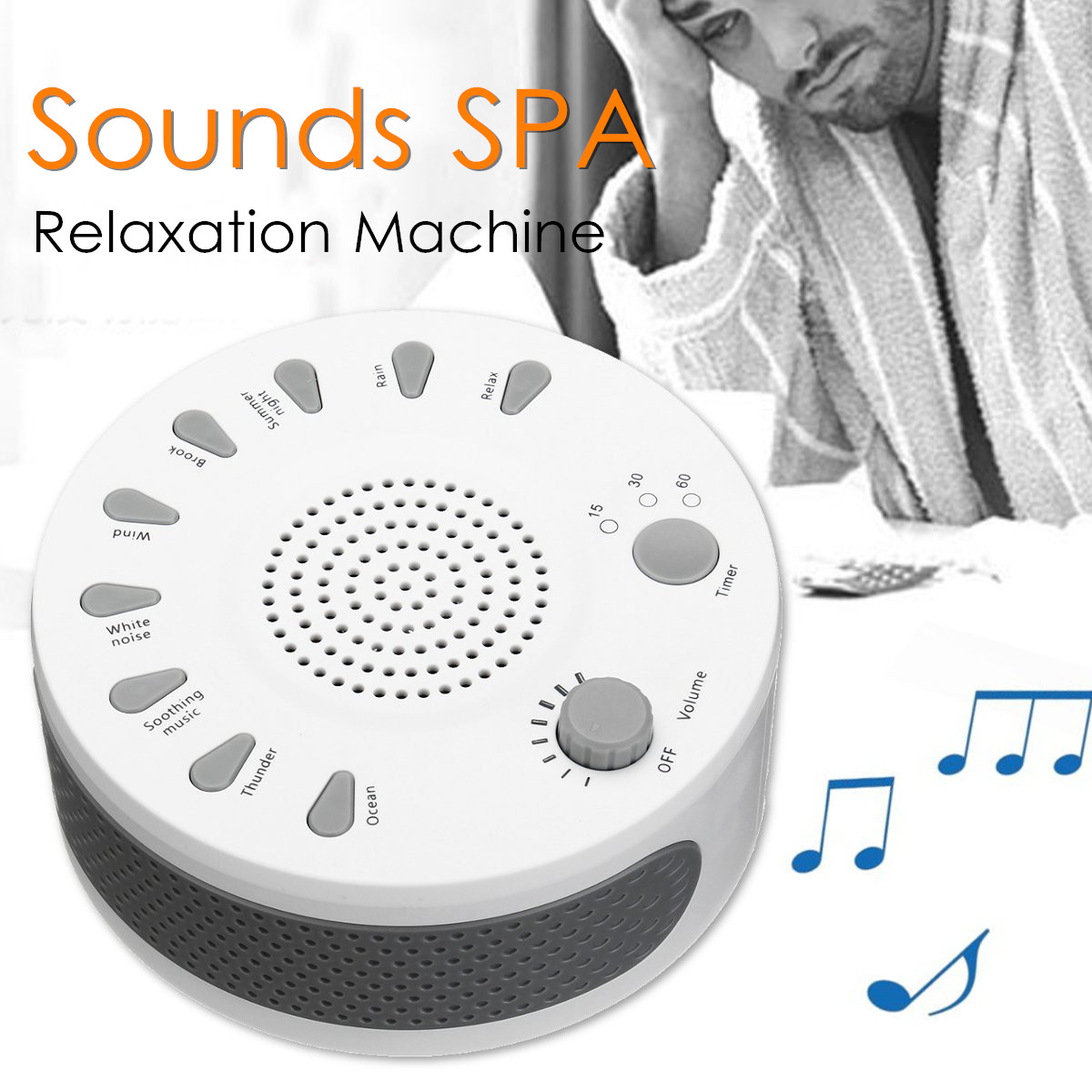 0390af0fe White Noise Therapy Sound Sleep Relaxing Machine Nature 9 Sounds ...