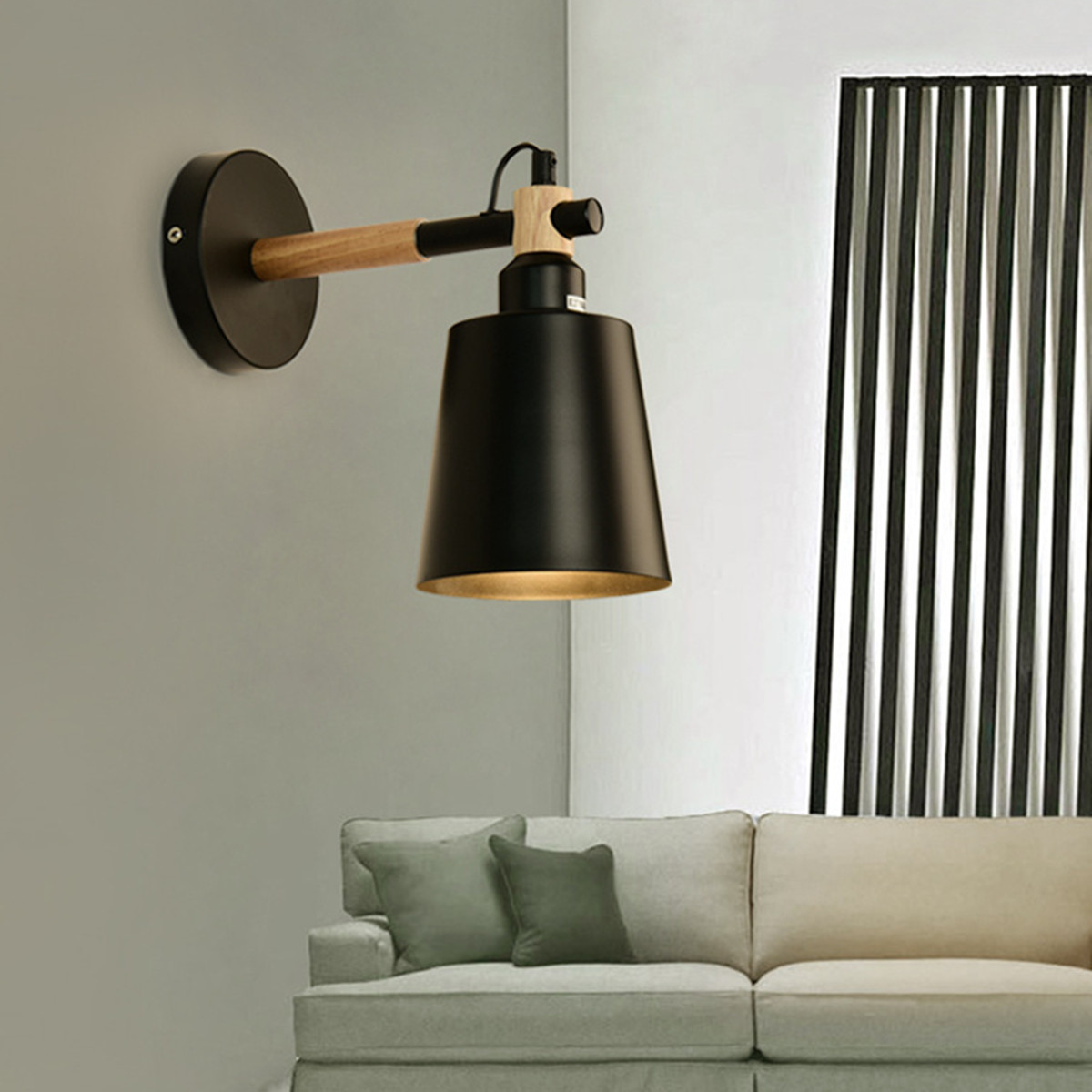 Vintage Industrial Wall Light Sconce Lamp Swing Fixture Hotel ...