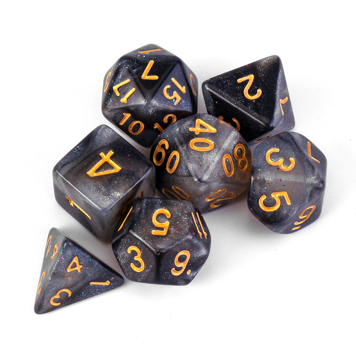 HB HN 10Pcs Multi-sided TRPG Game Dungeons Dragons D10 Polyhedral Dice Party P