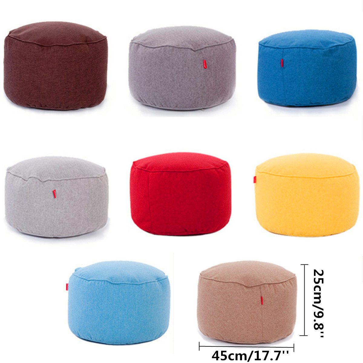 Fantastic Details About Round Stuffed Lounger Lazy Bean Bag Cover Chair Sofa Footstool Footrest Pocket Evergreenethics Interior Chair Design Evergreenethicsorg