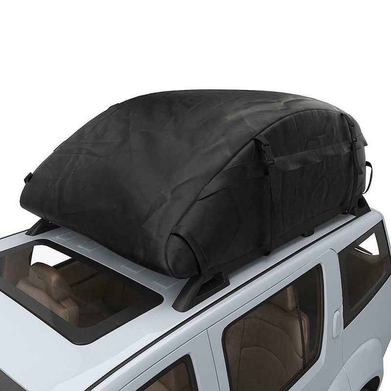 Details About 20 Cubic Car Cargo Roof Bag Waterproof Rooftop Luggage Carrier Black 51x39x17