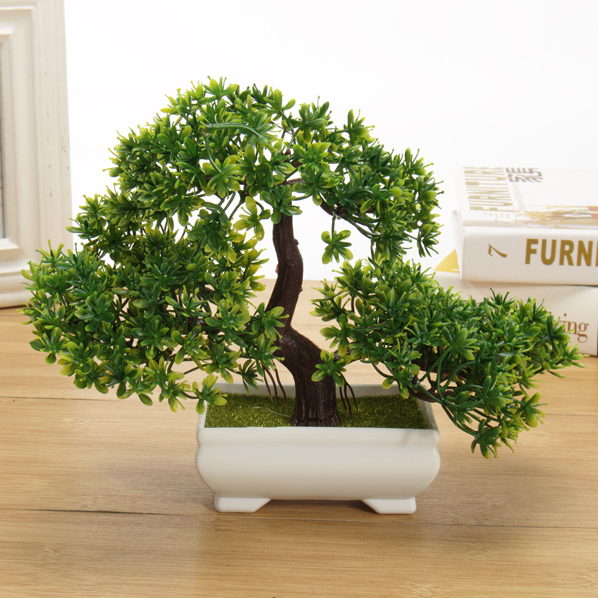 Fake Artificial Green Plant Bonsai Potted Simulation Pine Tree Home Office Decor 6212802113107 Ebay