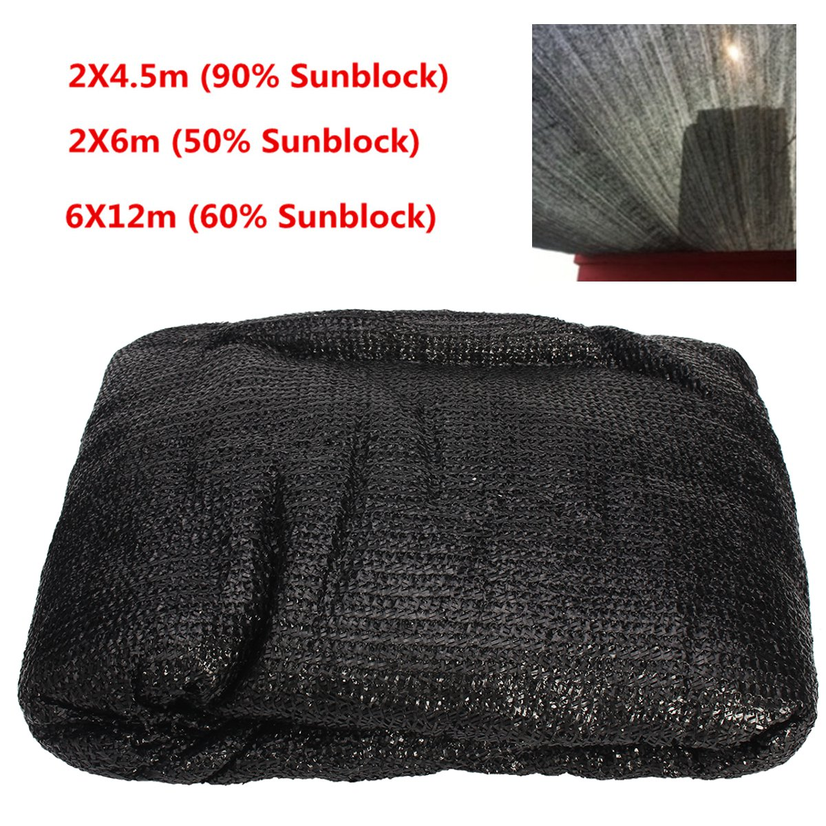 Sunblock Shade Cloth 50-90% UV Resistant Fabric Tarp Barn Greenhouse Plant Cover