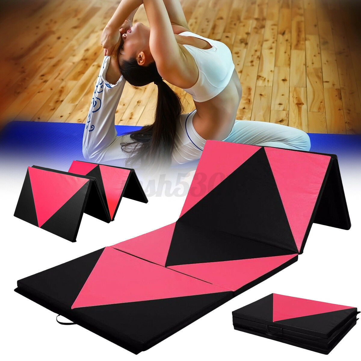 10 8 6ft Fold Panel Gymnastics Mat Gym Fitness Exercise