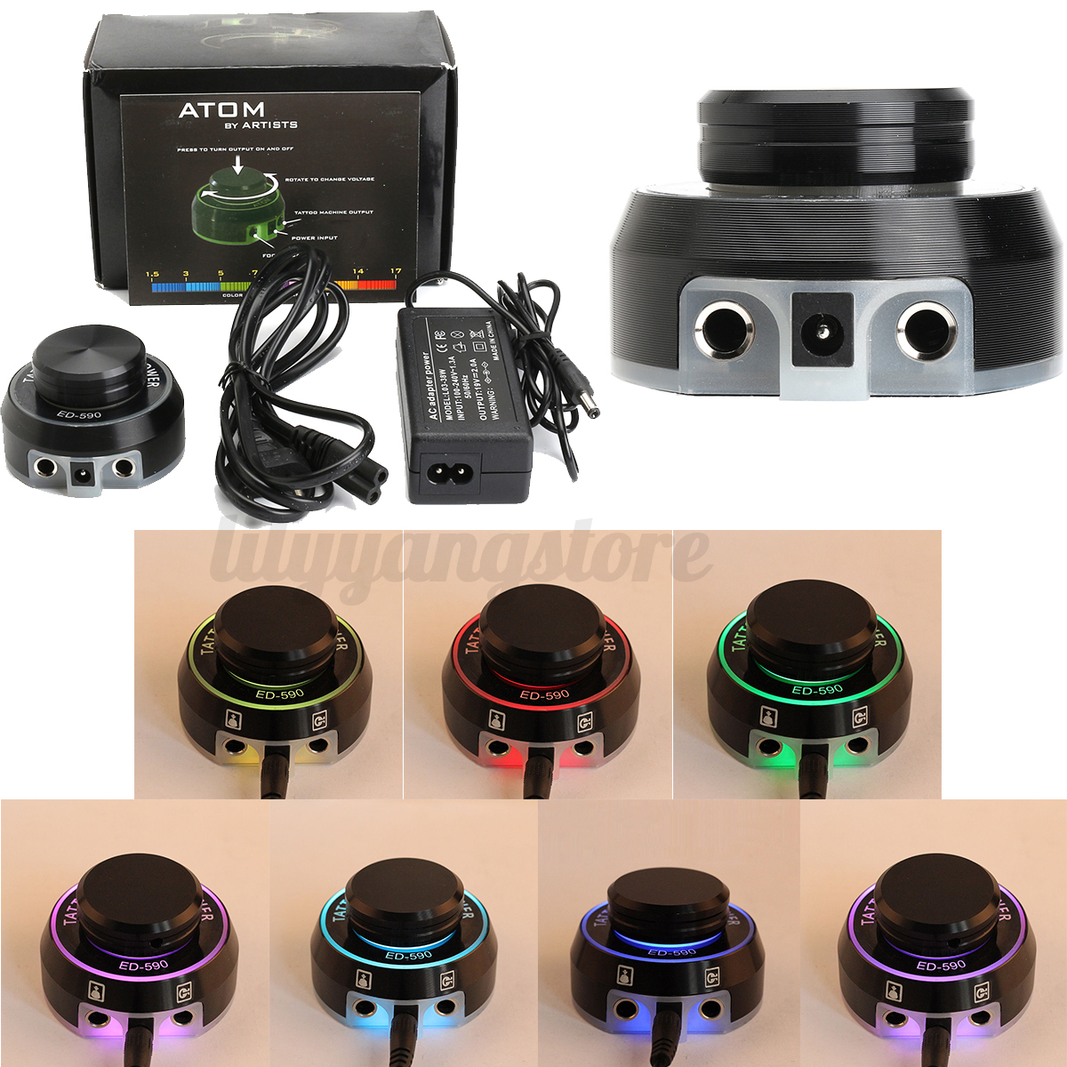 New style critical tattoo atom power supply for tattoo for Tattoo supplies ebay