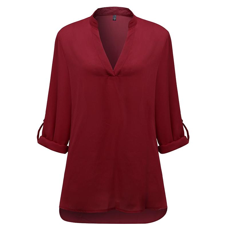 ZANZEA-8-24-Women-Long-Sleeve-V-Neck-Tunic-Peasant-Top-T-Shirt-Plus-Size-Blouse