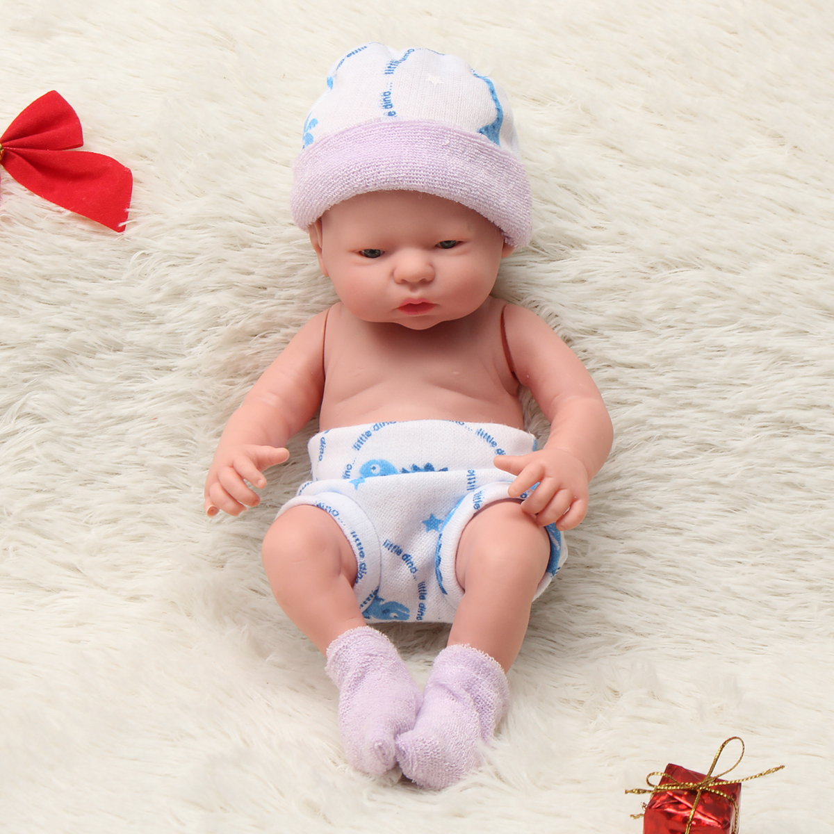 Newborn-Baby-Doll-Gift-Toy-Soft-Vinyl-Silicone-Lifelike-Newborn-KidsToddler-Girl