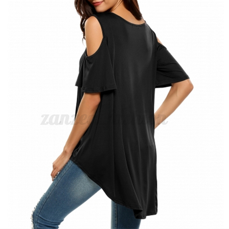 a0de530589e Plus Size 8-26 Celmia Women Off Shoulder Irregular Hem Plain Tops ...